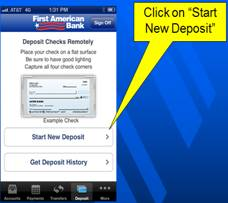 mobile check deposit step three