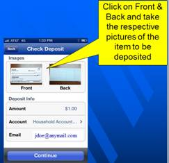 mobile check deposit step five